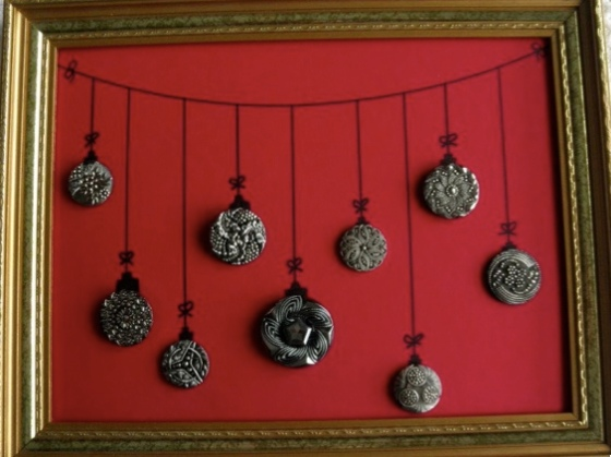 Christmas Ornament Button Tray